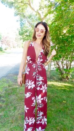 Sparkle and Slippers: Floral Jumpsuit