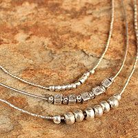 Silver pendant necklace, 'Hill Tribe Gathering' from @NOVICA, They help #artisans succeed worldwide.