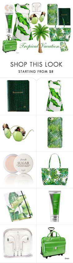 """""""Topical Vacation"""" by prettyyourworld ❤ liked on Polyvore featuring Graphic Image, Fresh, Skinnydip, Tri-coastal Design, Cane + Austin and McKleinUSA"""