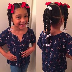 Bows And Ponytails Lil Black Hairstyles