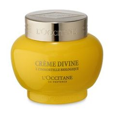 Discover divine cream by L'Occitane, an anti-aging facial cream with essential oils that visibily improves fine lines and wrinkes for younger-looking…