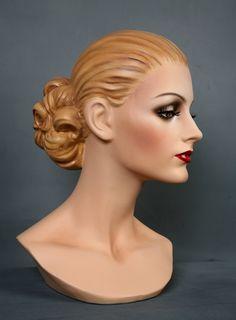 restored by Tommequins Mannequin Display, Vintage Mannequin, Mannequin Heads, Doll Head, Doll Face, Hat Stands, Art Sculpture, Mannequins, Art Dolls