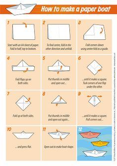 Miscellany of Randomness: Paper boat craft instructions.