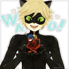 Miraculous Ladybug / Chat Noir. Owww soo damn cute :3 I love him. He's my bea kitty ^•^
