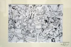 Exposition exceptionnelle de l'artiste sud-coréen Kim Jung-Gi, génie du dessin à main levée, au Bastille Design Center (Paris 11e), jusqu'au 7 février 2016.