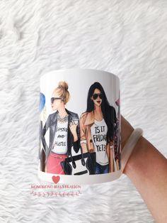 Taza de café de moda, Linda taza, taza de café femenino, regalo para el amante del café, elegante taza de café, taza café, taza de cerámica, taza de café