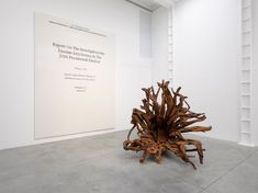 Ai Weiwei: Roots at Lisson Gallery, London - Arte Fuse Ai Weiwei, Roots Series, Refugee Boat, Lisson Gallery, Tree Felling, Giant Tree, 2016 Presidential Election, Steel Sculpture