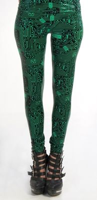 Lip Service - cyber leggings...I know, I know, I have similar ones by Black Milk, I'm sorry, I'm a cybergoffik at heart!