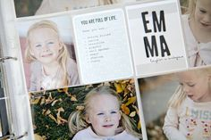 Great idea for documenting your kids at a certain age.