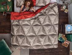 origami beddengoed snurk