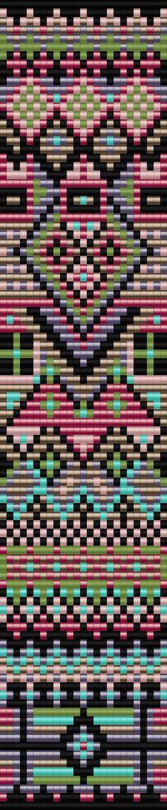 Patroon kraaltjes weven