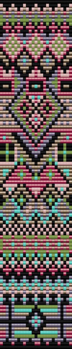 Free Seed Bead Loom Patterns | Geometric Bracelet One (This is really pretty) Probably complex but nice looking.: