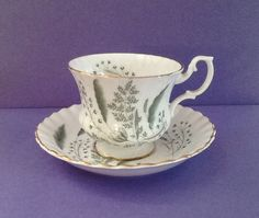 Royal Albert Un-Named Bone China England Montrose Style Teacup Set by Whitepearlfinds on Etsy https://www.etsy.com/listing/239654065/royal-albert-un-named-bone-china-england