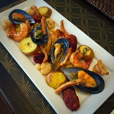 Inspired by San Francisco's Fishermans Wharf..  My seafood platter is made up of prawns, mussels, scallops, Potatoe, Corn, Chorizo all tied together with lemon butter sauce
