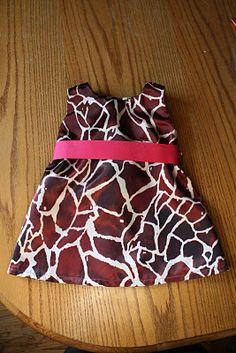 Giraffe print dress I made for my daughter's giraffe-themed birthday party.
