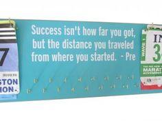 Success isn,t how far you got...PRE race bibs and Medals holder