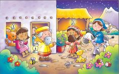 Helen Prole Illustration - helen prole, educational, commercial, digital, mass market, value, activity, colouring, people, nativity, bible, biblical