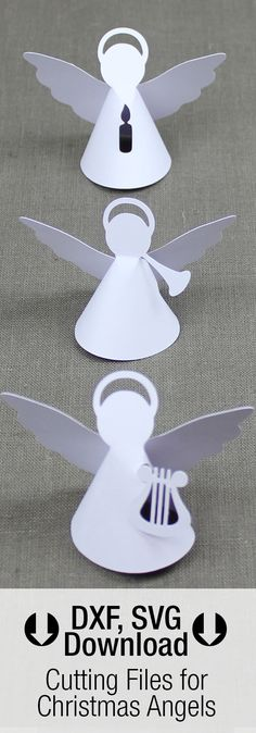 cutting files dxf svg pdf for christimas angels silhouette - Ngel Muster Selber Machen