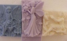 3 ANGELS SHEA BUTTER, COCOA BUTTER, GOAT'S MILK, AND HONEY SOAP.