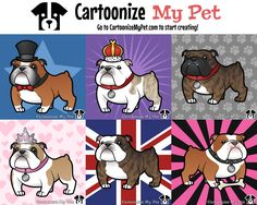 Create your own Bulldog http://www.cartoonizemypet.com/builder/?view=color&animal=dogs&pet=english-bulldog