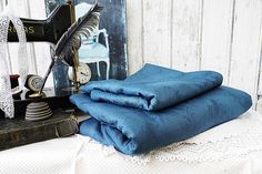 2tlg. Vintage Damast Bettwäsche in grau von Gerne Wieder auf DaWanda.com