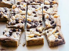 Get Samantha Seneviratne's Butterscotch Blondies with Macadamia Nuts and Chocolate Recipe from Food Network
