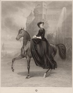 It was often said that Elizabeth was most comfortable in a riding habit. She became famous as a highly skilled equestrian. #modcloth #styleicon