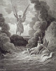 Gustave Dore-Satan and Beelzebub, from the first book of 'Paradise Lost' by John Milton