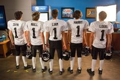 Oh, my football players lookin' good in their jerseys mmmmhhh. I don't know how to respond to this, but thank you to whoever's idea it was to but butt pads on these boys!
