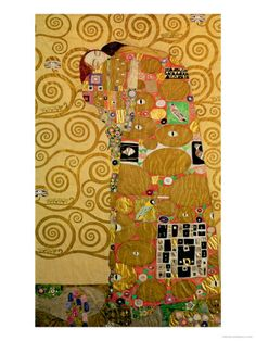 Fulfillment, Stoclet Frieze, c.1909, Klimt