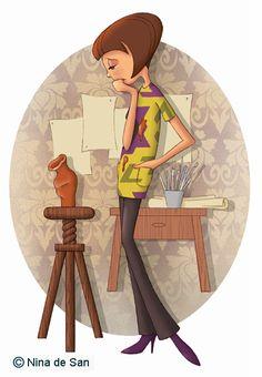 Ilustraciones: octubre 2009 Illustration Mignonne, Fun Illustration, Creation Photo, Holly Hobbie, Art Themes, Art Graphique, Museum Studies, Animation, Art Plastique