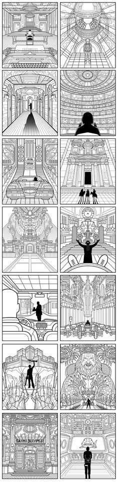 One point perspective collection. on Behance