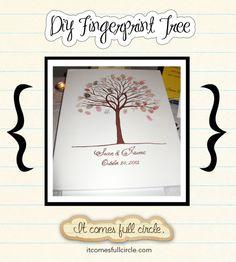 DIY Fingerprint Guest Book