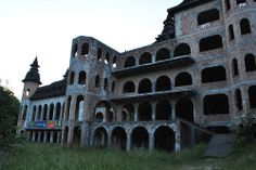 Abandoned castle in Lapalice, Poland