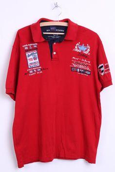 Paul & Shark Mens XXL Polo Shirt Red Yachting Top Sport Jersey - RetrospectClothes
