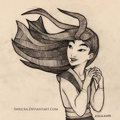 Sketch style (Mulan) 10 by *Shricka on deviantART