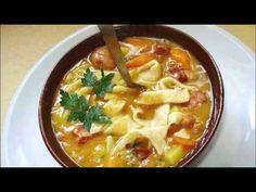 ಹ್ಯಾಮ್, ಬೀನ್, ನೂಡಲ್ಸ್ ಸೂಪ್ [ Ham Bean Noodle Soup ] Noodle Soup, Cheeseburger Chowder, Thai Red Curry, Noodles, Beans, Food And Drink, Ethnic Recipes, Macaroni, Noodle