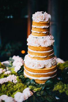 #naked #wedding #cake http://trendybride.net/naked-wedding-cakes-part-two/ trendy bride blog