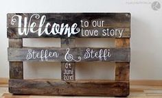 Wooden pallet disposable pallet euro pallet label painted wooden sign signpost wedding diy self make tinker wise lettering instruction rustic birthday vintage - Wedding Decorations Ideas Painted Wooden Signs, Wooden Diy, Euro Pallet, Temporary Room Dividers, Room Divider Walls, Rustic Birthday, Pallet Painting, Outdoor Wedding Decorations, Wood Pallets