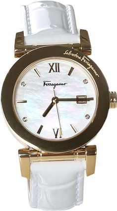 Ferragamo Watches Women's Salvatore Stainless Steel & Diamond Watch, 31mm