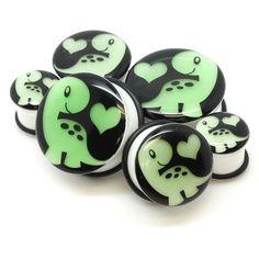 http://www.bodyjewelrysource.com/body-jewelry/ear-plugs-spacers/glow-in-the-dark-dino-heart-ear-plugs.html