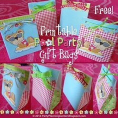 #Free Printable Pool Party Gift Bags