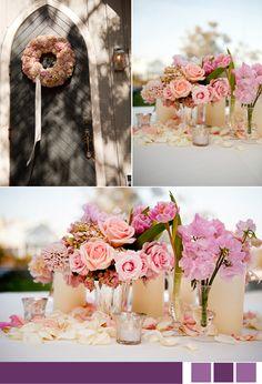 Rosy centerpieces