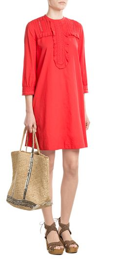 Bright red coloring lends youthful cool to this airy cotton dress from Vanessa Bruno Athé. Let it take you through warmer days with ease #Stylebop