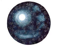 Watercolor painting Original art Crystal stone by BluePalette