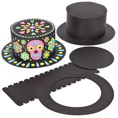 Buy Halloween Black Top Hat Craft Kits for Children to Decorate ans Wear (Pack of from our Colouring & Drawing range - Tesco Crazy Hat Day, Crazy Hats, Halloween Cut Outs, Theme Halloween, Halloween Crafts, Craft Activities For Kids, Crafts For Kids, Arts And Crafts, Kids Top Hat