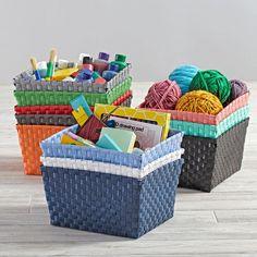 Strapping Shelf Basket (Bright Red)
