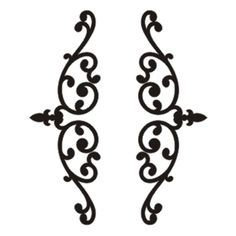 wrought iron panel svg - Google Search