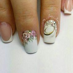 23 Brautnagel-Designs - Nageldesign & Nailart - Lilly is Love Bridal Nails Designs, Bridal Nail Art, Gel Nail Art Designs, Wedding Nails Design, Cute Nails, Pretty Nails, Pink Nails, Gel Nails, Crazy Nail Art