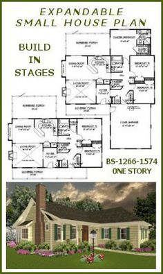 1000 images about house plans on pinterest floor plans for Small expandable house plans